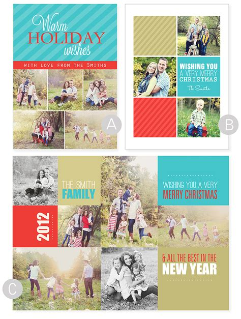 free card photo collage template 1 2 card templates