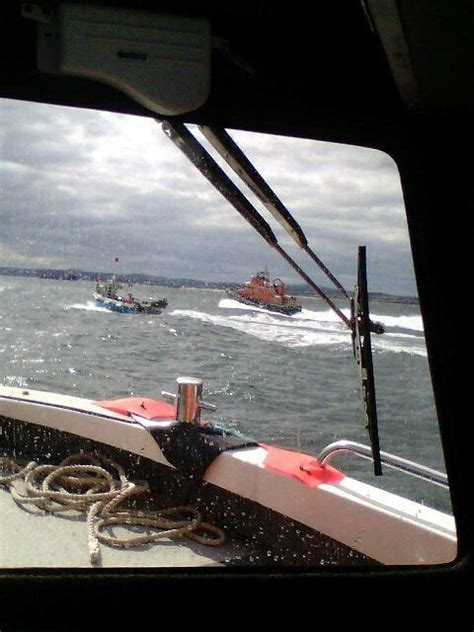safety boat skipper jobs rescue crews stop aberdeen boat smash as skipper swims 20