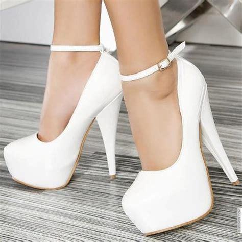 High Heel Brukat White shoes high heels white white high heels strapped high heels white pumps pumps white shoes