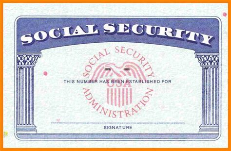 Blank Social Security Card Template 9 social security card beverage carts