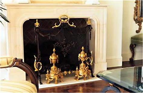 Fireplace Bumpers by Antique Wrought Iron Grates