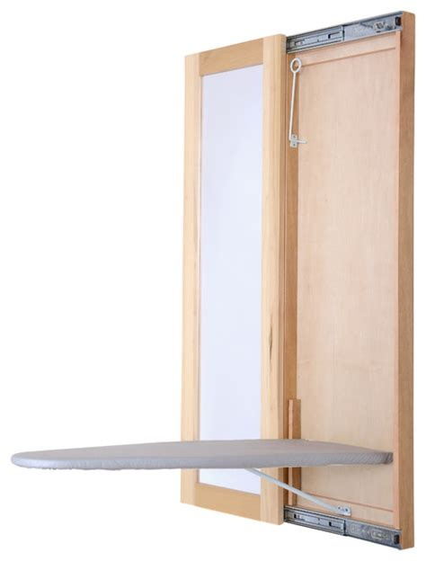 mirror ironing board wall mount ironing board with mirror unfinished wood