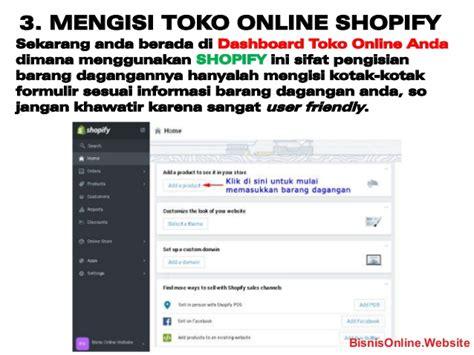 cara membuat toko online instagram cara membuat toko online dengan shopify