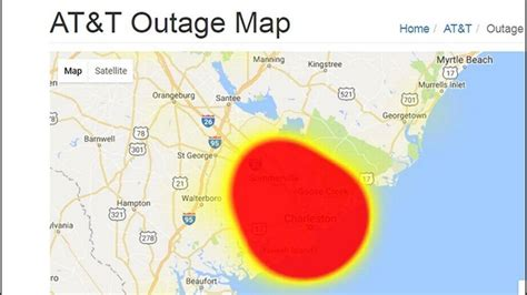 att outage map at t announces cell service restored to sc customers the