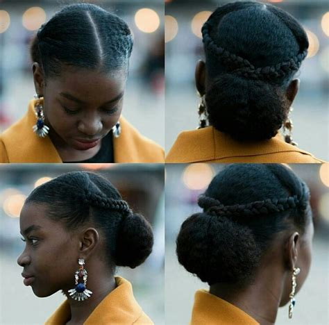 african american swoops and bags hair styles oyinhandmade loving this sleek updo w braids and a bun