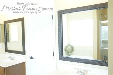 how to hang a framed bathroom mirror how to install a bathroom mirror frame the video