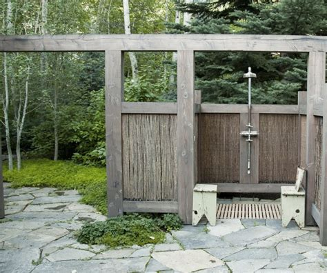 outdoor showers hardscaping 101 outdoor showers gardenista