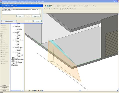 slanted curtain wall revit revitcity com angled curtain walls not sloping glazing