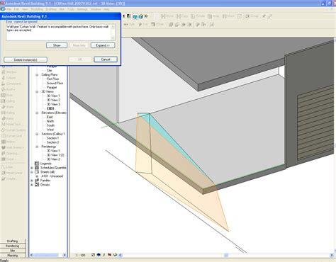 sloped curtain wall revit revitcity com angled curtain walls not sloping glazing