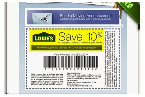 lowes deals and coupons