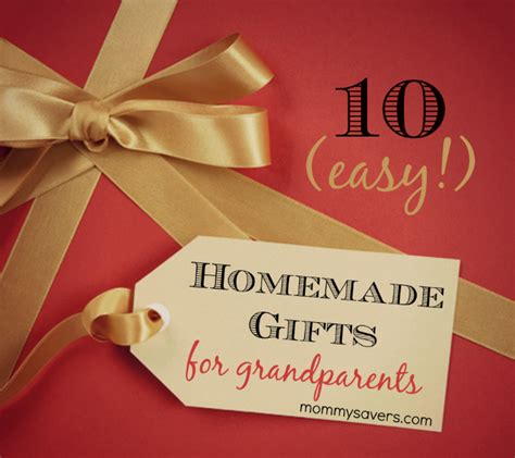 homemade gifts for grandparents ten easy ideas mommysavers
