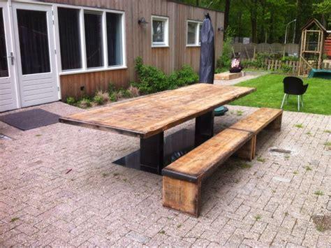 eettafel 350 cm steenschotten tafel mcyc 350 cm x 110 cm breed en 75 cm hoog