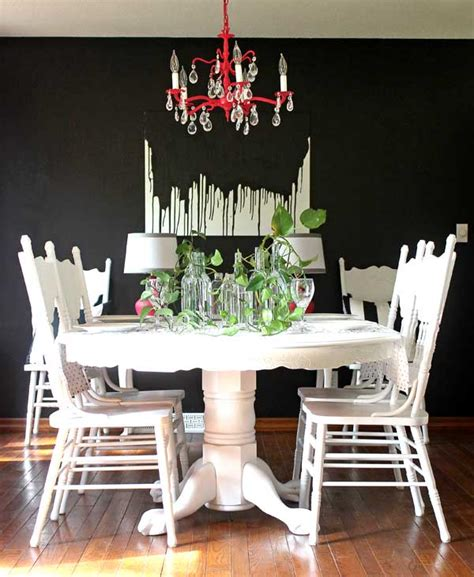 Dining Room Set Makeover by Make This Easy Diy Paint Drip Wall