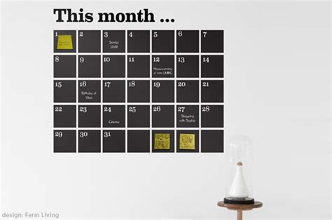 wall sticker calendar chalkboard calendar wall decals at home with vallee