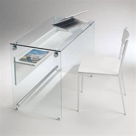 vetro per scrivania scrivania per computer in vetro trasparente 100 cm scriba
