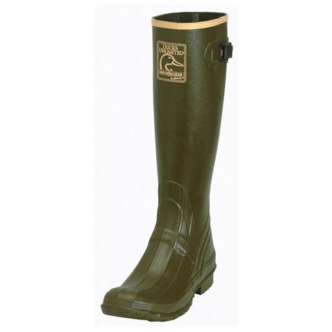 mens ankle rubber boots s ducks unlimited 174 17 quot ankle fit uninsulated rubber