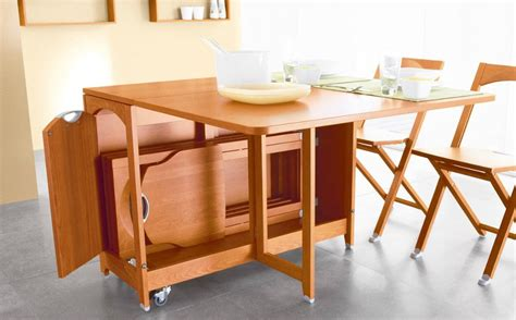 Folding Table With Chair Storage Pin By Vaughan On Small House Transforming Furniture