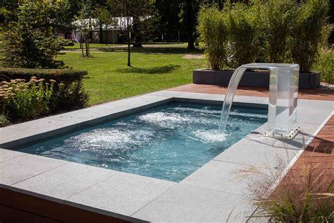 terrasse mit pool mini pools schwimmb 228 der michael wagner
