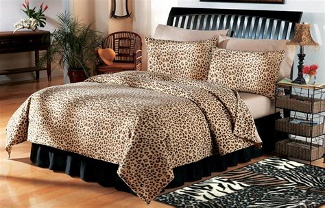 leopard comforter queen safari theme home decor leopard print coverlet bedding sz