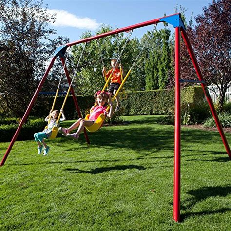 lifetime a frame swing set lifetime 90200 heavy duty a frame metal swing set primary