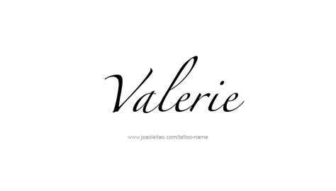 valerie tattoo designs valerie name designs