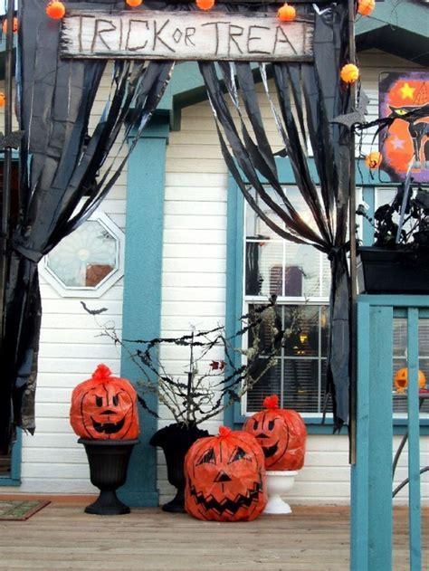 creepy diy trash bags halloween decorations