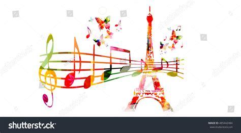 design love fest paris guide creative music style travel template vector stock vector