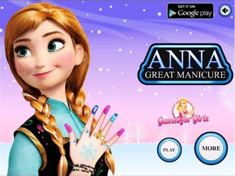 disney frozen games anna great manicure fun