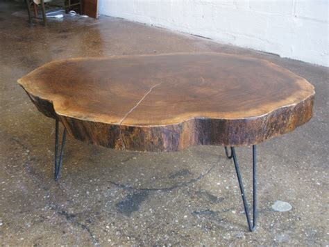 how to make tree trunk coffee table home decorations