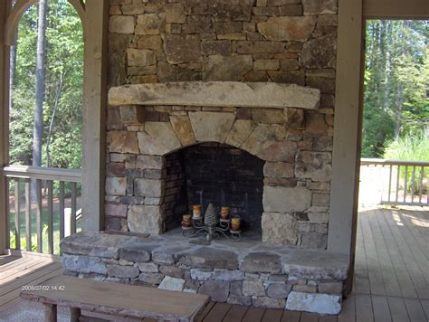 Stones Fireplace by Stacked Fireplace For The Home