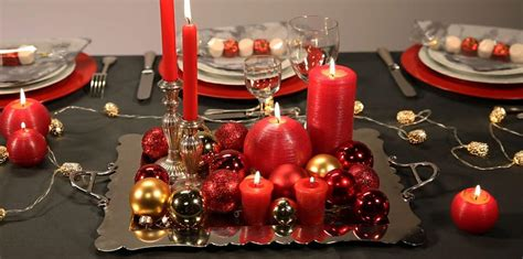 Decors De Table De Noel by Table De No 235 L Nos Id 233 Es De D 233 Coration En Vid 233 Os Et