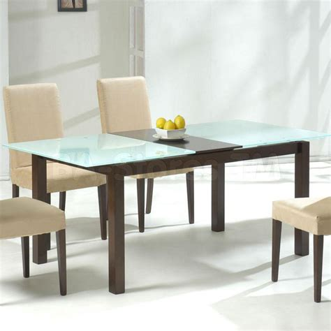 Rectangular Glass Dining Table Wood Base 39 Modern Glass Dining Room Table Ideas Table Decorating Ideas