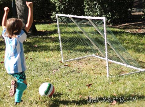 diy lacrosse goal get out and play easy diy pvc soccer goal the six fix