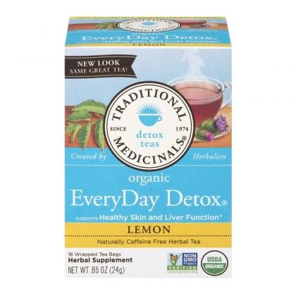 Traditional Medicinals Teas Organic Lemon Everyday Detox by 有機上網店 飲品 健之本