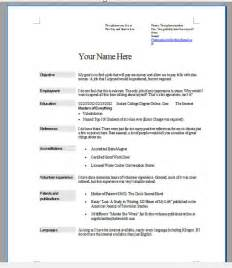 how to write a format of a resume