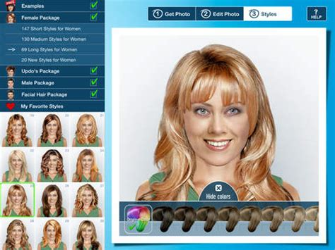 virtual hairstyles ipad app hairstyle pro for ipad try on hairstyles for men and