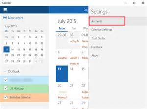 How to use windows 10 calendar app