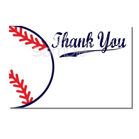 Baseball Thank You Card Template by Baseball Thank You Card Baby Shower Digital Or Print