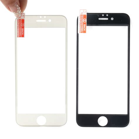 Murah Tempered Glass 9h Real Tipe Apple Iphone 6 6s premium 9h real tempered glass screen protector for apple iphone 6 4 7 black lazada singapore