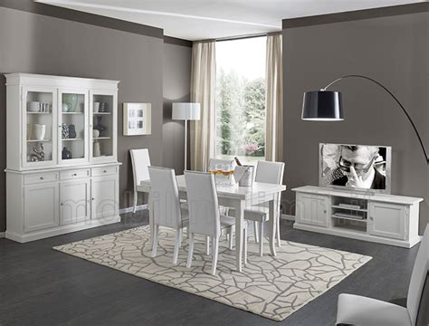 mobili sala da pranzo sala da pranzo con porta tv bianco opaco