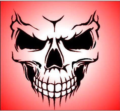 skull templates for airbrushing gallery for gt airbrush stencils skulls pinteres