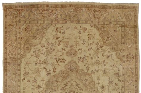 Neutral Color Area Rugs Antique Turkish Oushak Area Rug With Warm Neutral Color Palette For Sale At 1stdibs