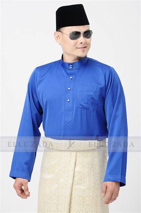 Baju Melayu Slim Fit Navy Blue baju melayu chion 2017 royal blue zada