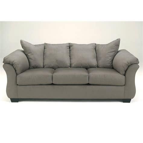 full size sleeper sofa ashley darcy fabric full size sleeper sofa in cobblestone
