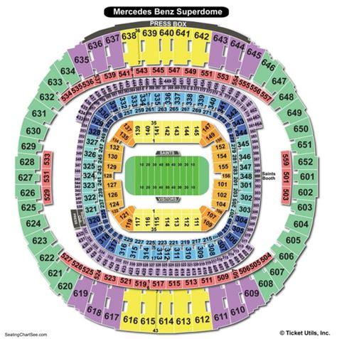 saints superdome seating map mercedes superdome seating chart seating charts and