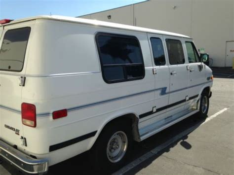 online car repair manuals free 1994 chevrolet sportvan g20 electronic throttle control purchase used 1994 chevrolet g20 sportvan extended passenger van 3 door 5 7l in rowland heights
