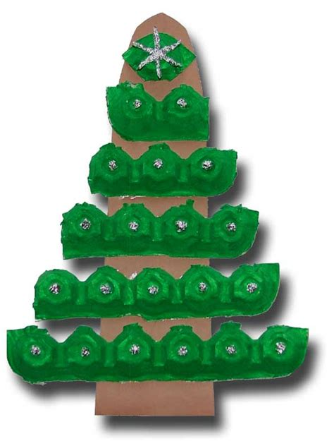 paper crafts for children 187 egg carton christmas tree