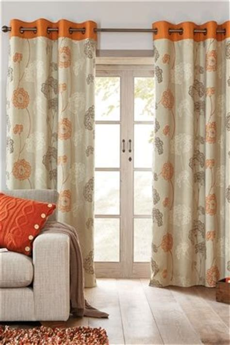 orange outdoor curtains orange emily floral eyelet curtains curtains and drapes