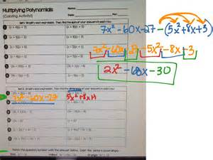 multiplying polynomials coloring activity multiply polynomials activity match problems and answers