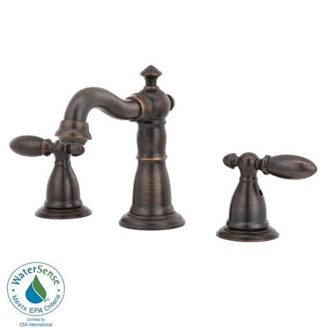 delta victorian 2 handle kitchen faucet in venetian bronze delta victorian 8 in widespread 2 handle high arc